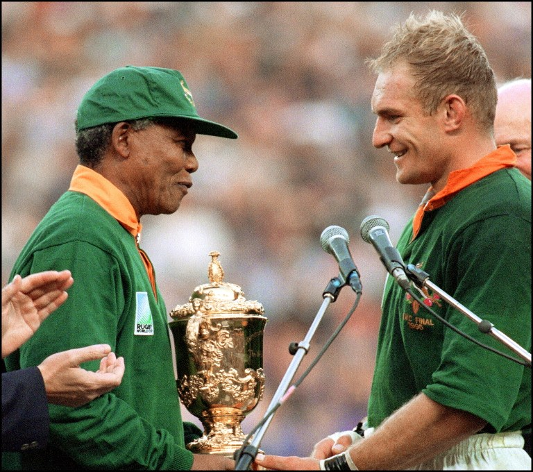 06aeef753c6 Mandela the secret weapon in 1995 WC Rugby victory