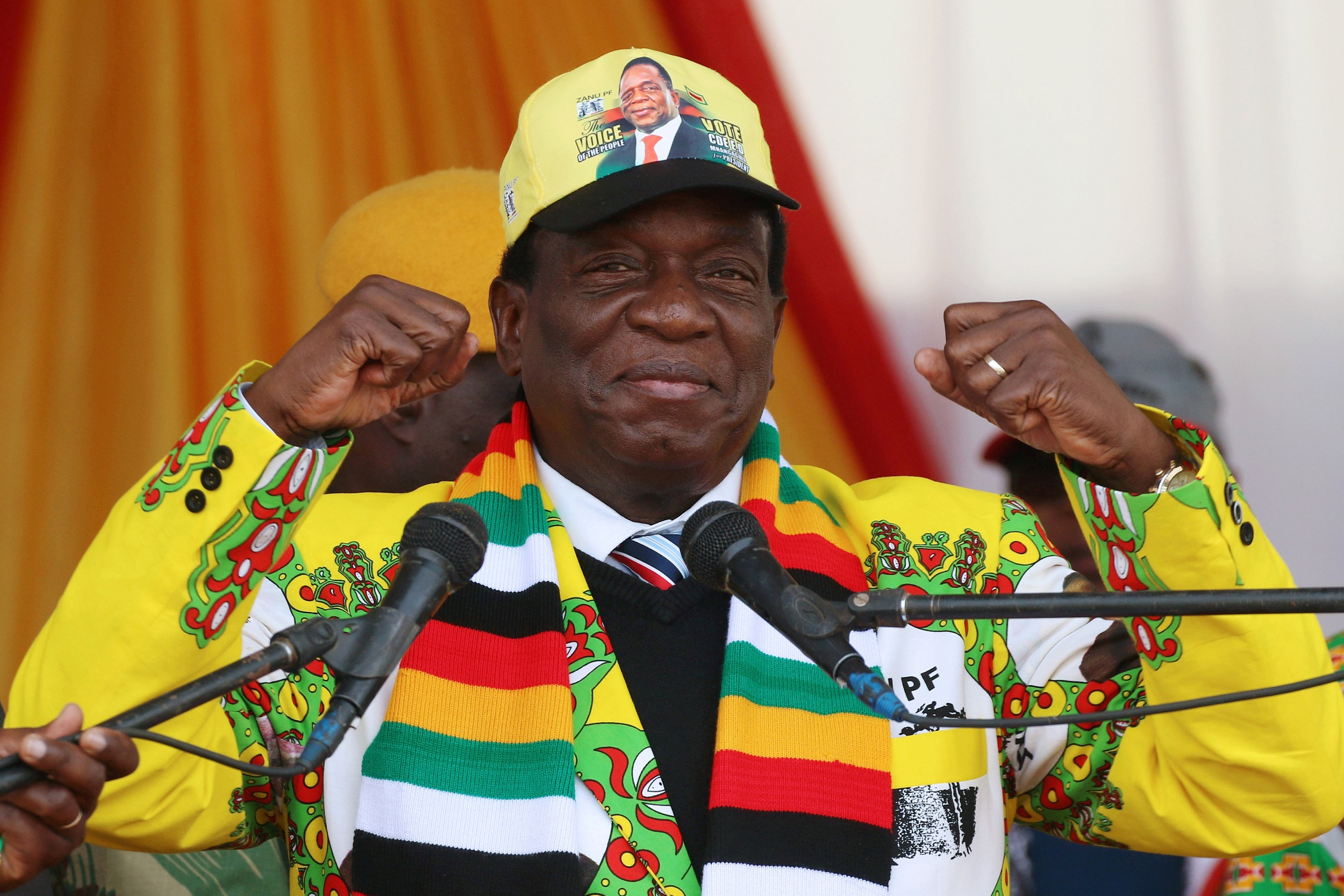 File: Emmerson Mnangagwa, Zimbabwe's president-elect will be sworn to office on August 12 in Harare.