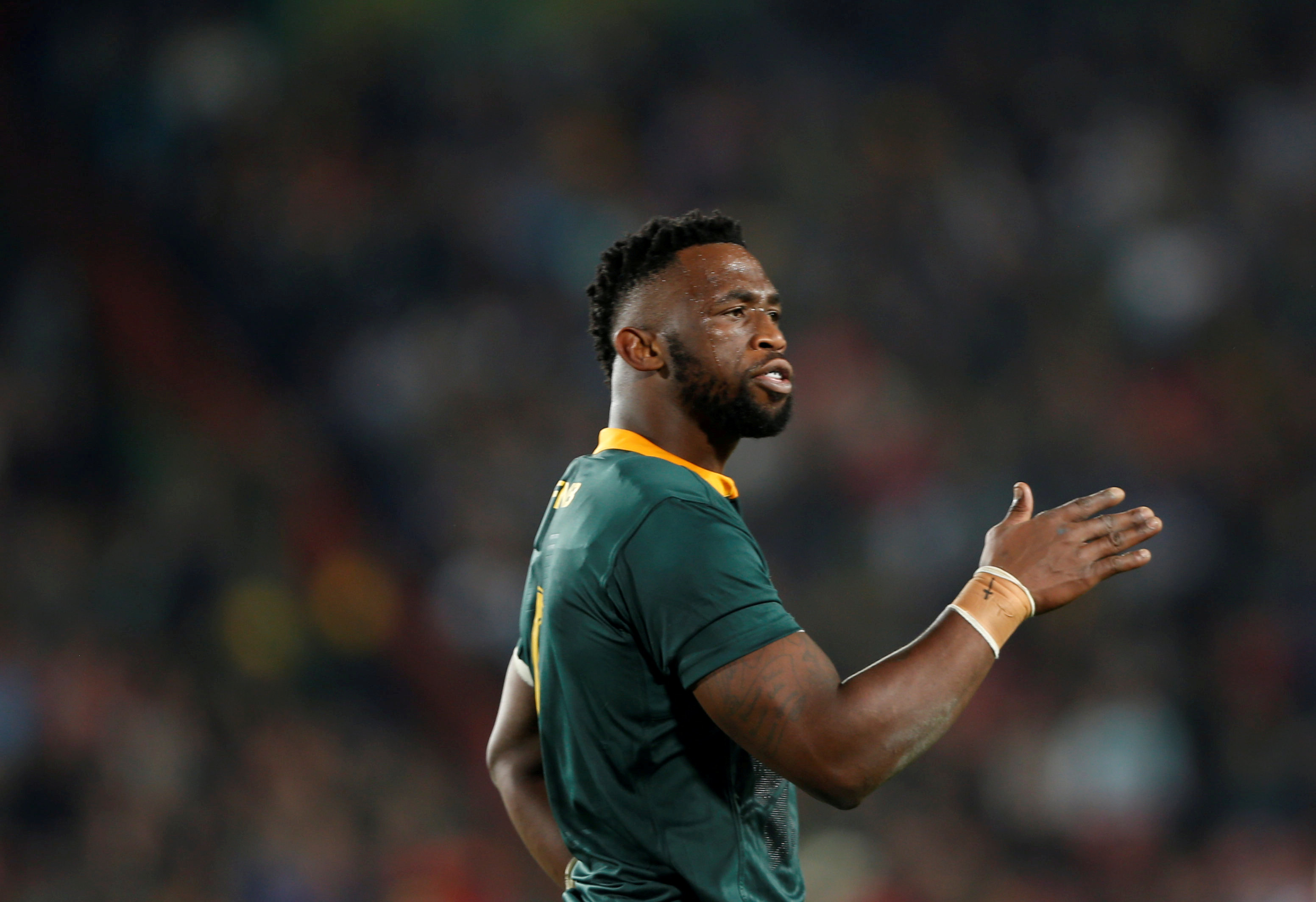 File: South Africa's captain Siya Kolisi.
