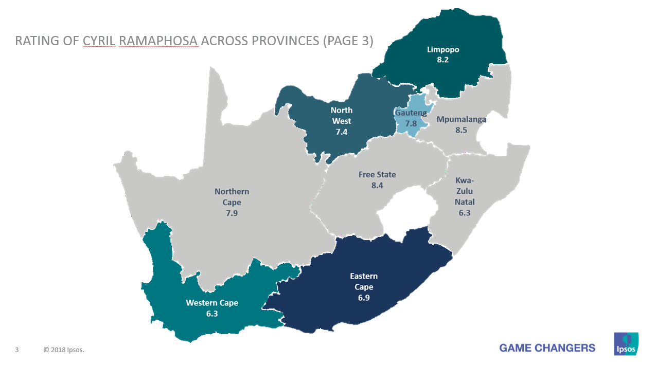 Map Of South Africa Showing 9 Provinces.Ipsos South African Voters Uncertain On Anc Future Enca