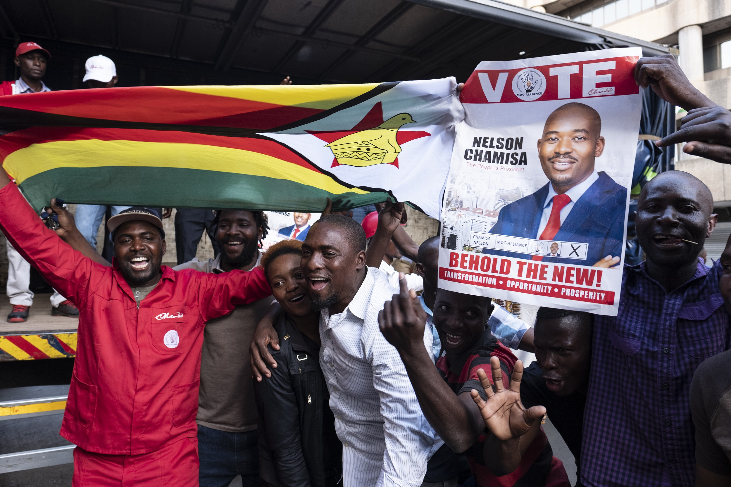File: Zimbabwe's MDC opposition party launched a legal challenge to President Emmerson Mnangagwa's election victory.