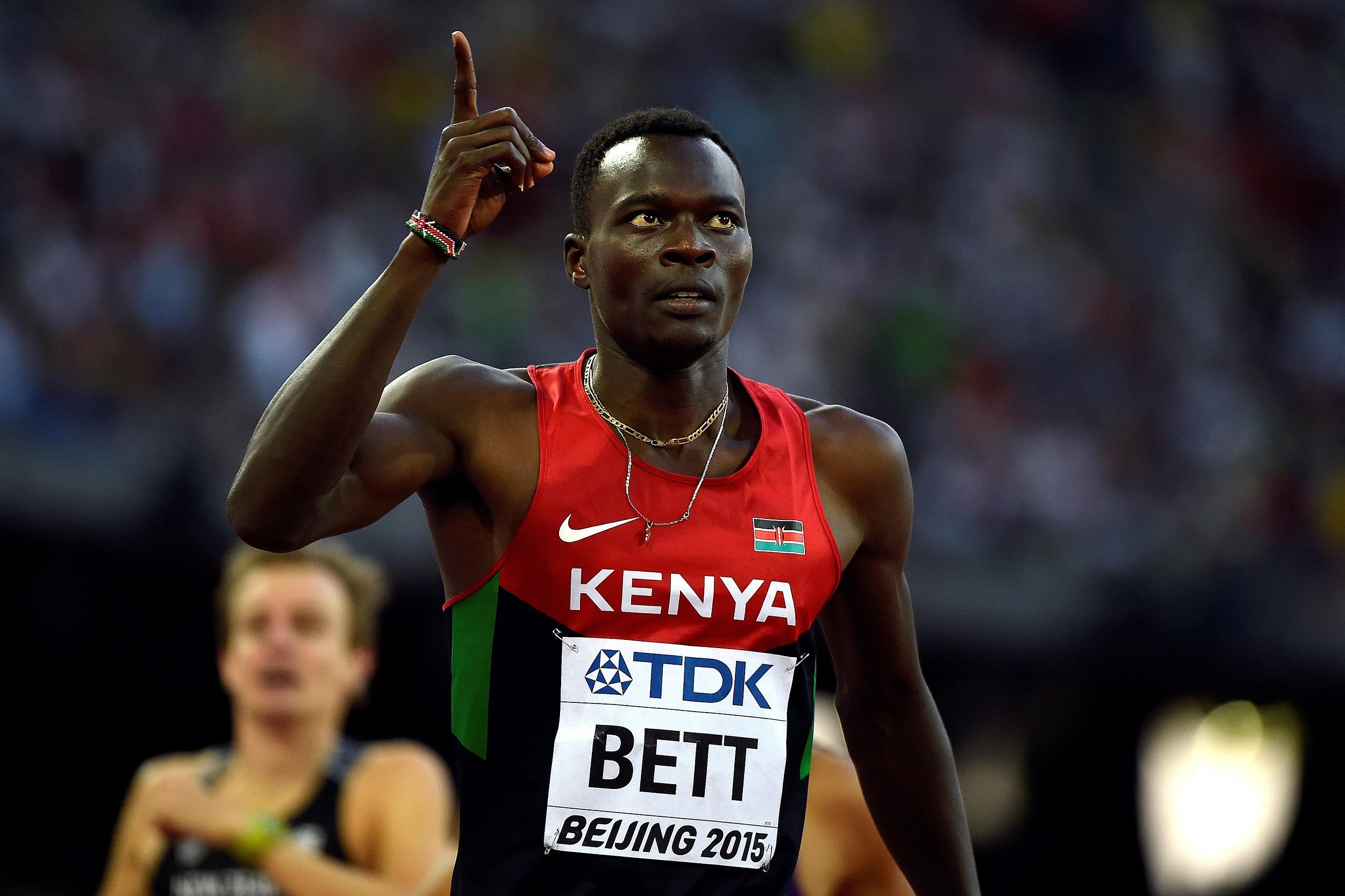 IMG NICHOLAS BETT, Kenya's 400m Hurdles World Champion