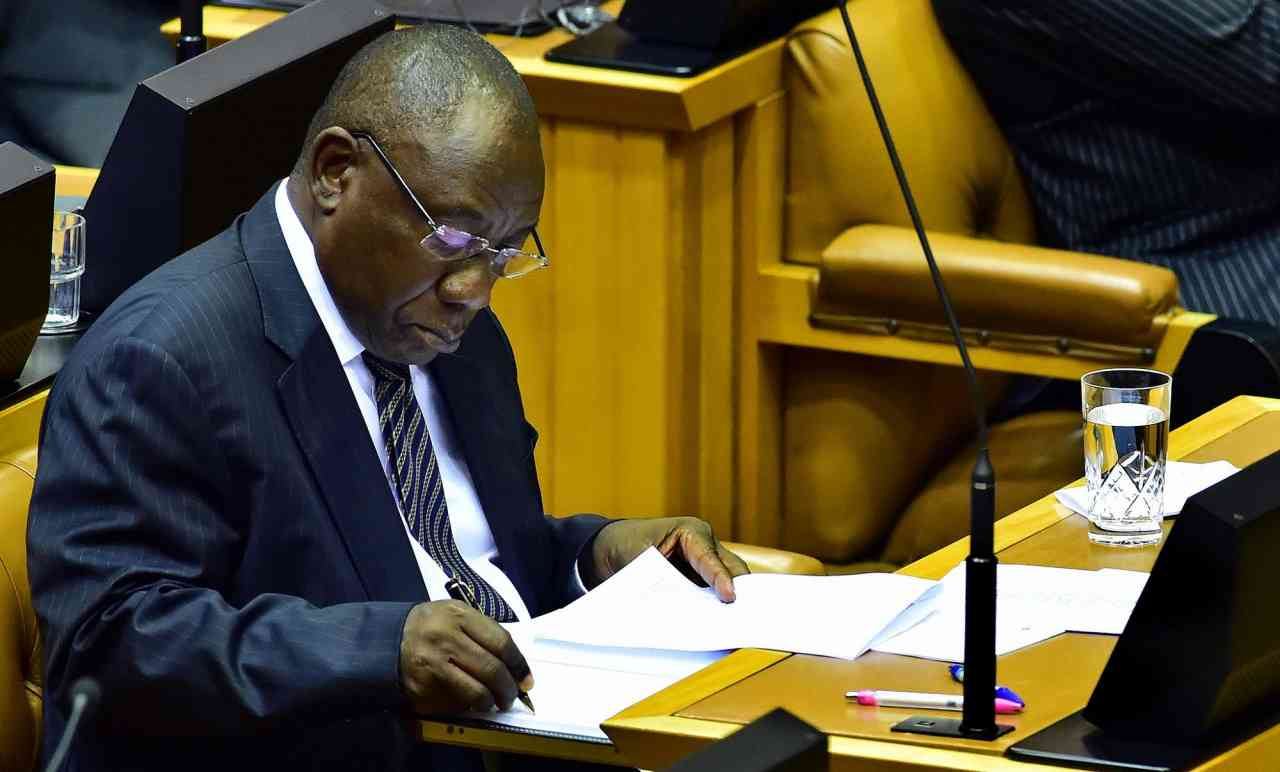 File: President Cyril Ramaphosa has retracted his explanation of the Bosasa payment to his son.
