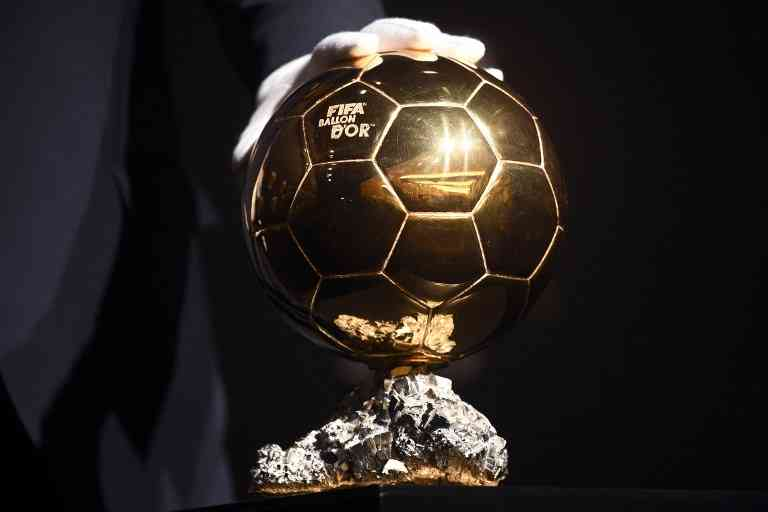 File: The FIFA Ballon d'Or trophy ahead of the award ceremony at the Kongresshaus in Zurich.