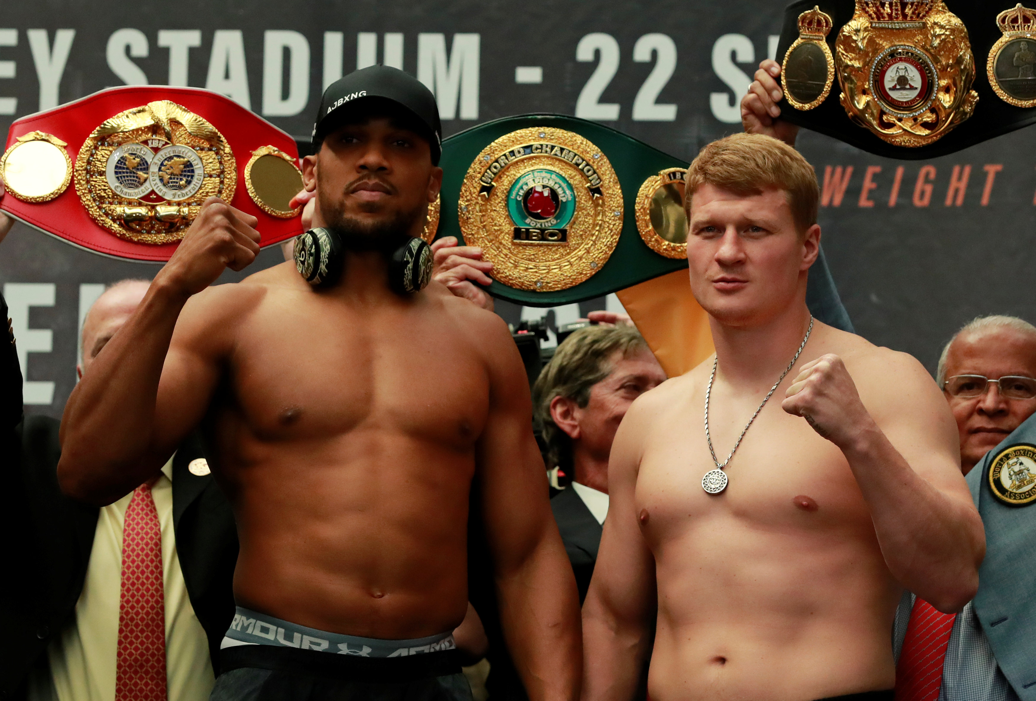 joshua adds weight for title fight against lighter povetkin enca