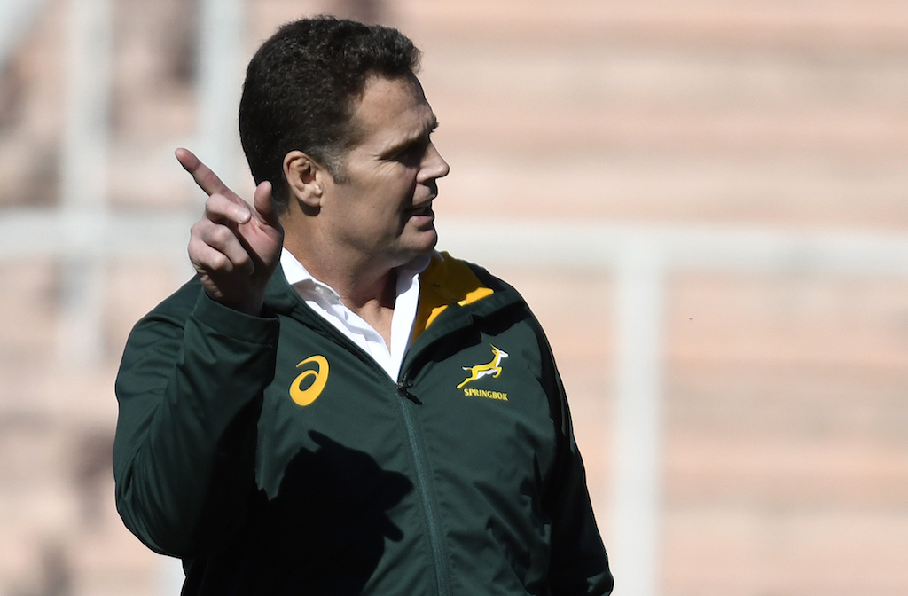 File: Coach Rassie Erasmus believes the Springboks have a chance of winning the World Cup.