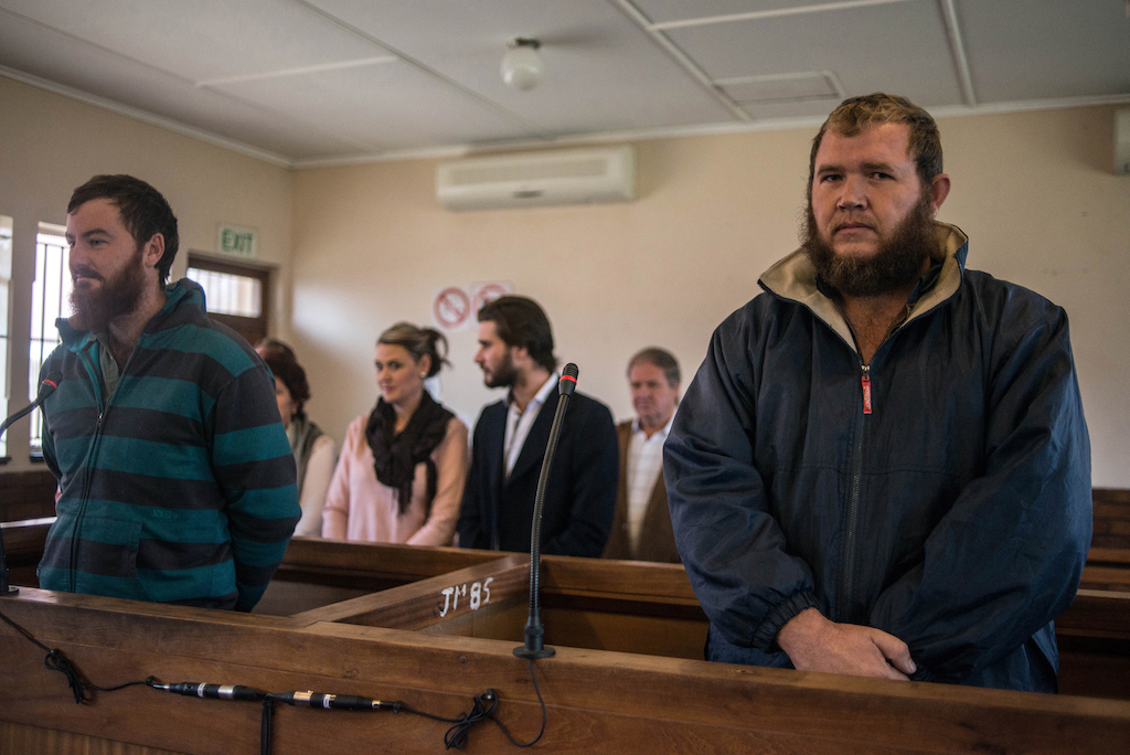 File: Pieter Doorewaard and Phillip Schutte were found guilty of killing teenager Matlhomola Moshoeu.