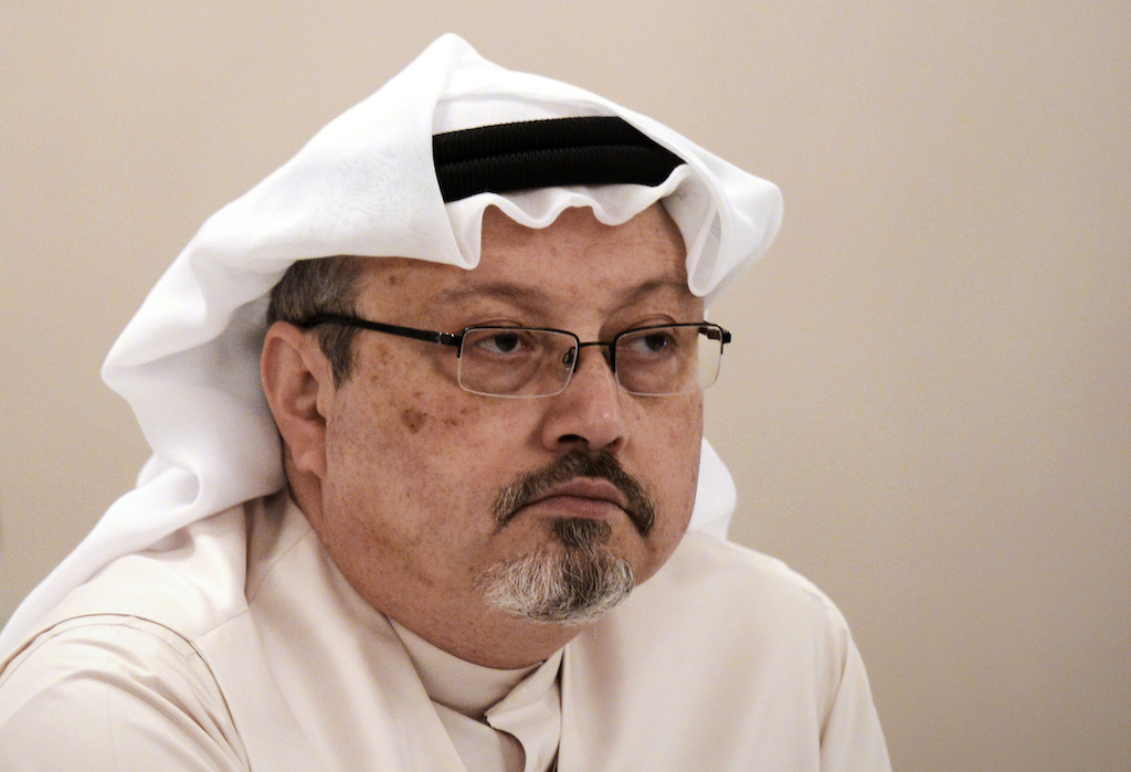 File:The 59-year-oldJamal Khashoggi, a palace insider turned critic of the Saudi regime, was strangled and his body cut into pieces by a 15-strong Saudi hit squad, according to Turkish officials.