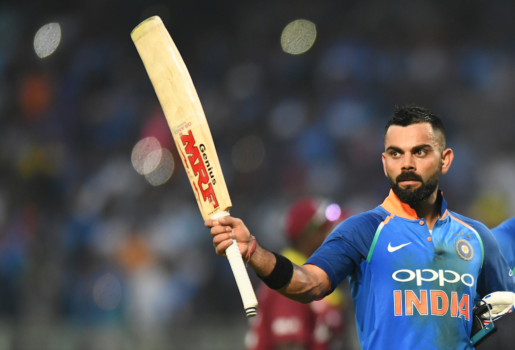 Virat Kohli brings up yet another hundred with a glorious hit