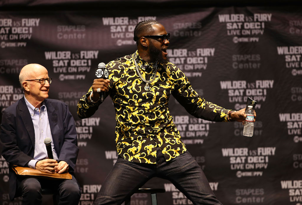 Deontay Wilder apologizes for punching, injuring mascot on live TV