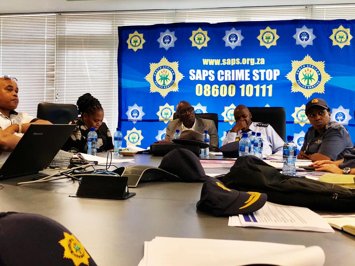 Minister of Police Bheki Cele General Khehla Sitole, MEC for Transport, Safety and Liaison Weziwe Tikana and Provincial Commissioner General Liziwe Ntshinga in PE to address gang-related crimes/killings in the Northern areas.