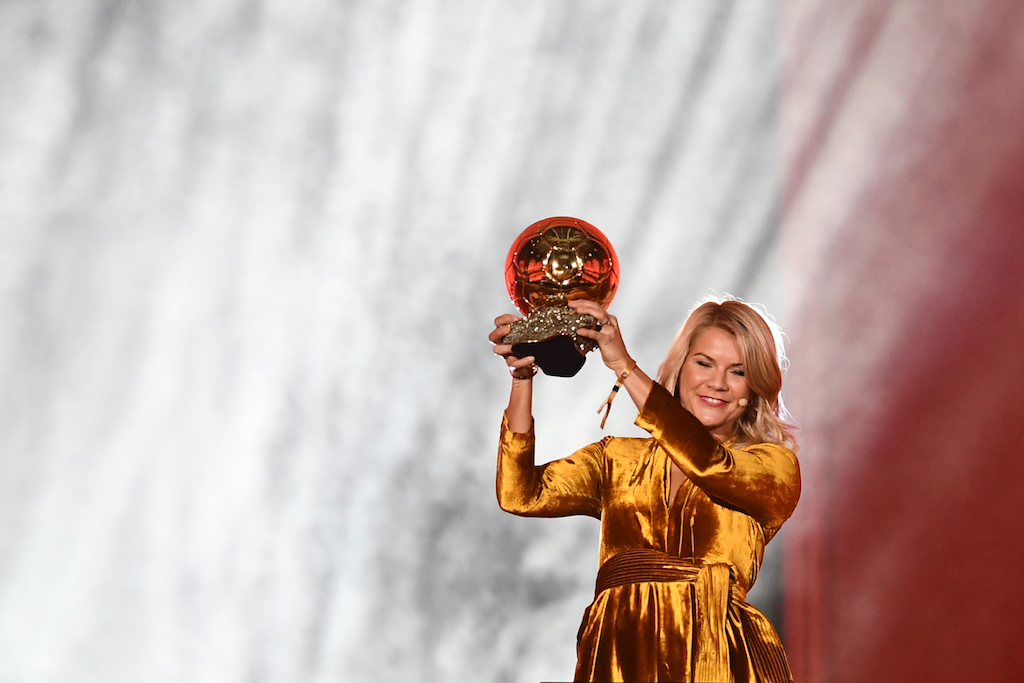 Ada Hegerberg is the first winner of the women's Ballon D'Or, an award which has been handed to male footballers since 1956.