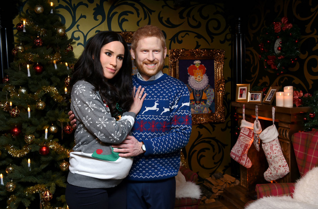 Madame Tussauds presents live wax figures of Britain's Prince Harry and Meghan, Duchess of Sussex.