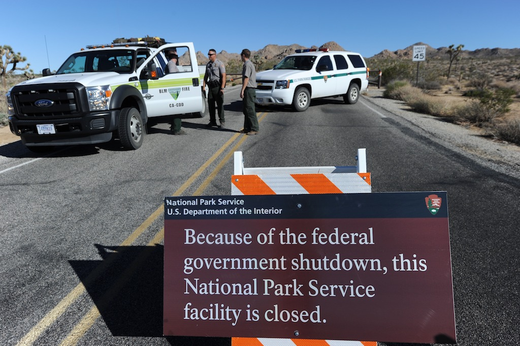 File: Hundreds of thousands of federal workers were sent home without pay, including 21,383 employees of the National Park Service (NPS).