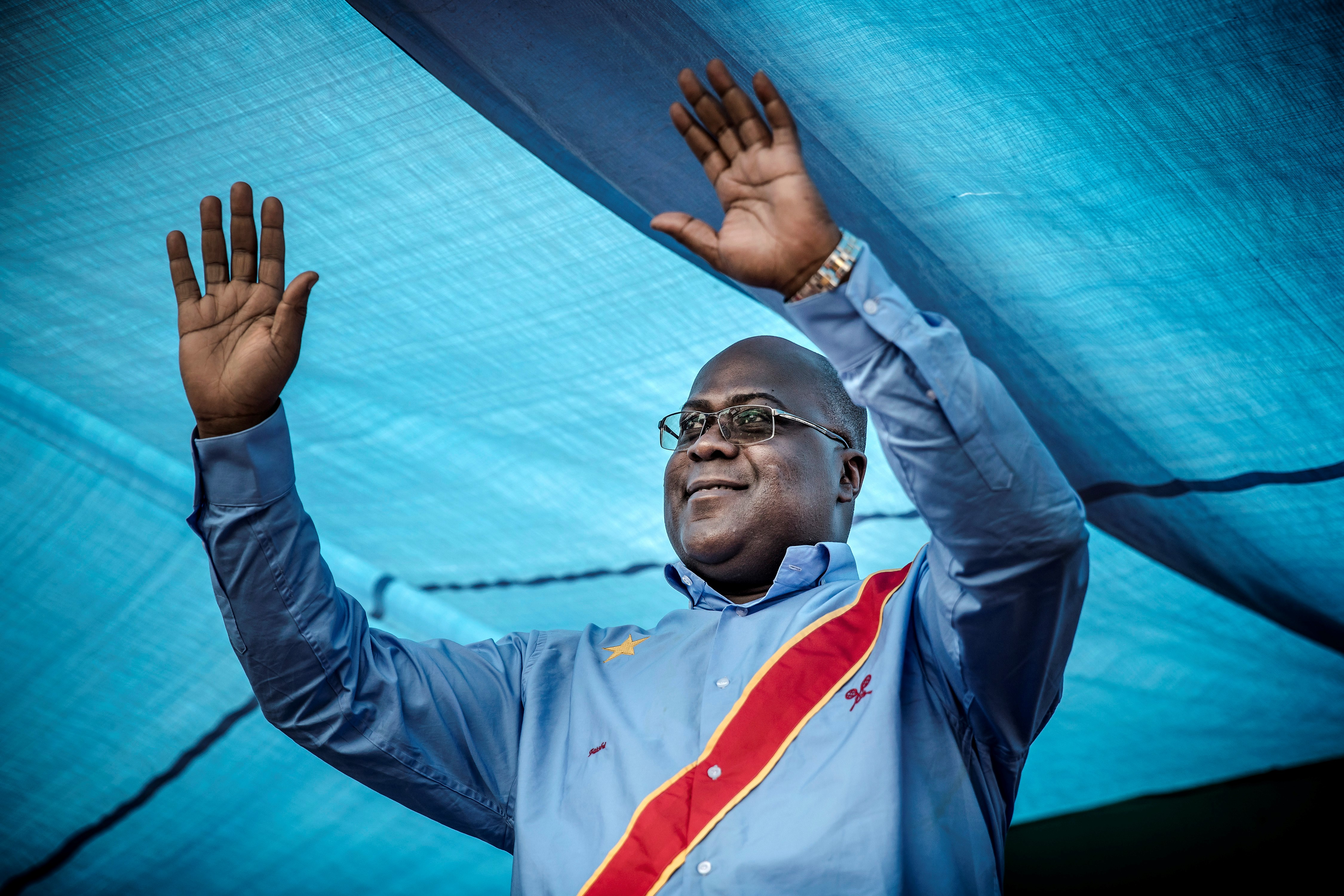 File: Opposition leader Felix Tshisekedi takes over from Joseph Kabila who is stepping aside after 18 years at the helm of sub-Saharan Africa's biggest country.