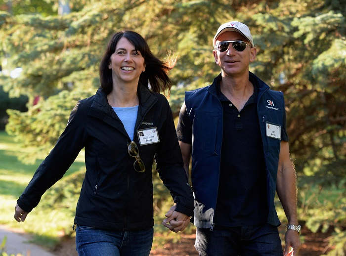 The Amazon.com founder Jeff Bezos announced his split from his wife MacKenzie on Wednesday.