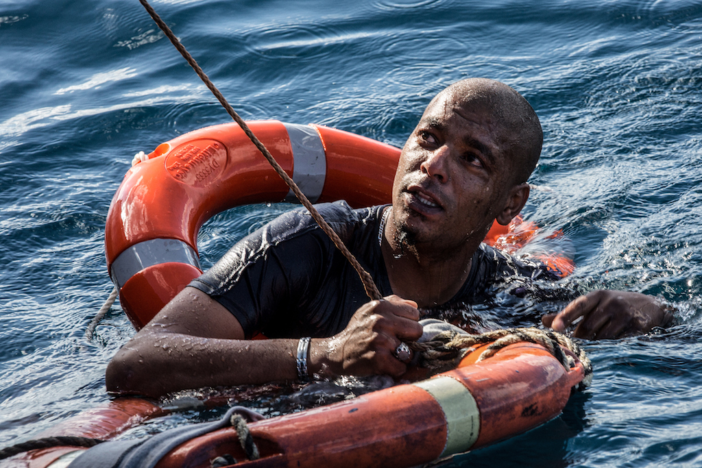 A migrant is being rescued after he dived in the Mediterranean off Malta's coast from the Dutch-flagged Sea-Watch 3 rescue vessel in a attempt to reach the shore by swimming.