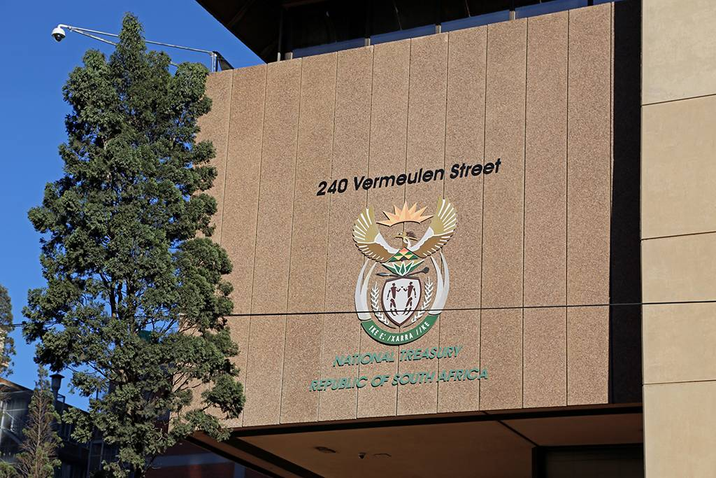 File: National Treasury offices at 240 Vermeulen Street, Pretoria Central.