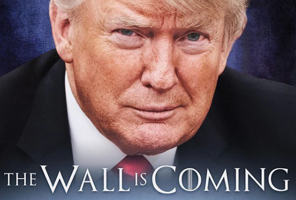 """THE WALL IS COMING,"" President Donald Trump wrote in a post on Instagram."