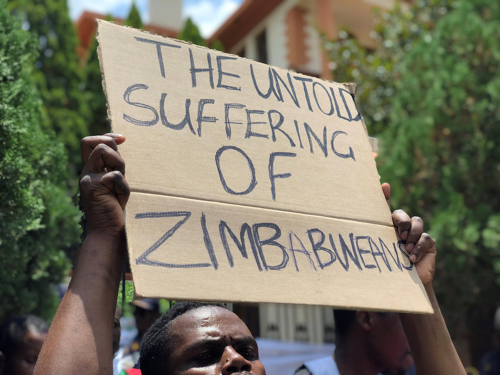 File: Nationwide demonstrations erupted after President Emmerson Mnangagwa said fuel prices would double.