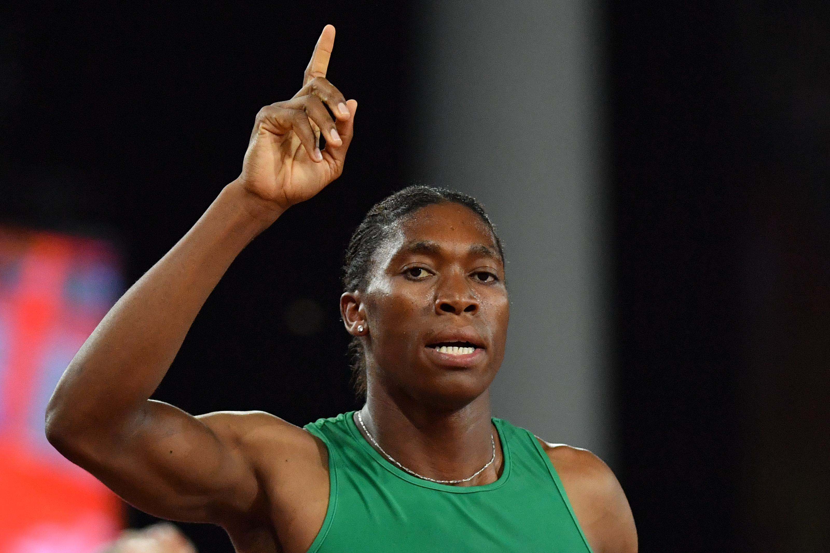 File: Double Olympic champion Caster Semenya won her last 800 metres race on Friday before the introduction of controversial rules limiting testosterone levels in female athletes.