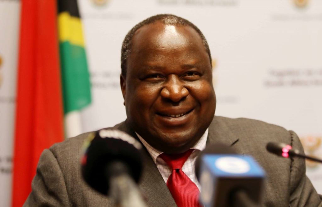Finance Minister Tito Mboweni during a media briefing after his first mid-term budget speech at Parliament on October 24, 2018