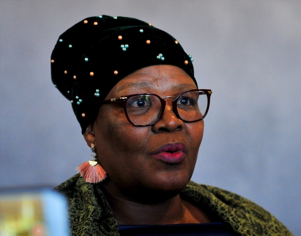 Vytjie Mentor giving her testimony to the Commission of Inquiry into State Capture chaired by Deputy Chief Justice Ray Zondo at Parktown on August 29, 2018 in Johannesburg, South Africa.