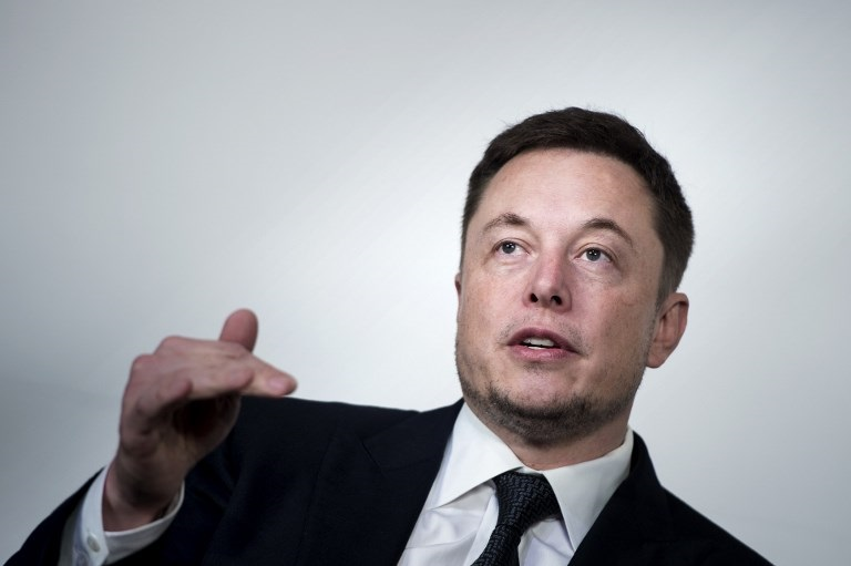 Elon Musk, CEO of SpaceX and Tesla, speaks during the International Space Station Research and Development Conference at the Omni Shoreham Hotel in Washington, DC.