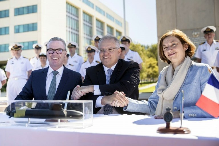 "Australia formally signed a 35.45 billion USD ""strategic partnership"" with France to build 12 state of the art submarines on February 11."