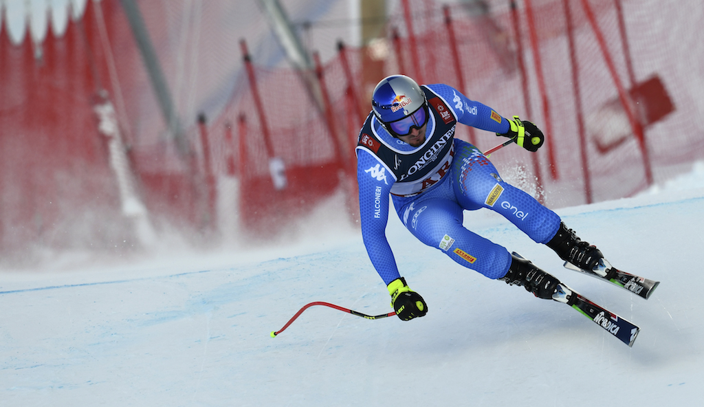 Italy's Dominik Paris competes during the men's Combined Downhill event of the 2019 FIS Alpine Ski World Championships.