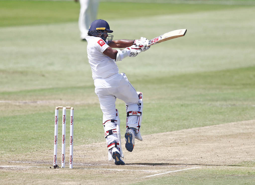 Sri Lanka's Kusal Perera bats during day four of the first test match between South Africa and Sri Lanka.