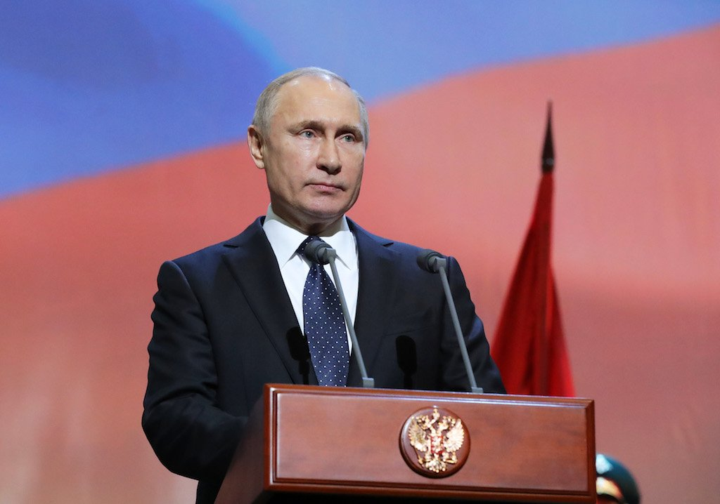 File: Russian president Vladimir Putin has previously threatened to develop nuclear missiles banned under the INF treaty if it is scrapped.