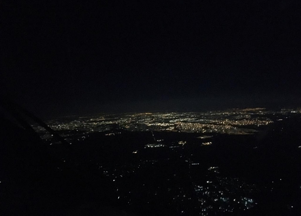 Johannesburg at night during load-shedding.
