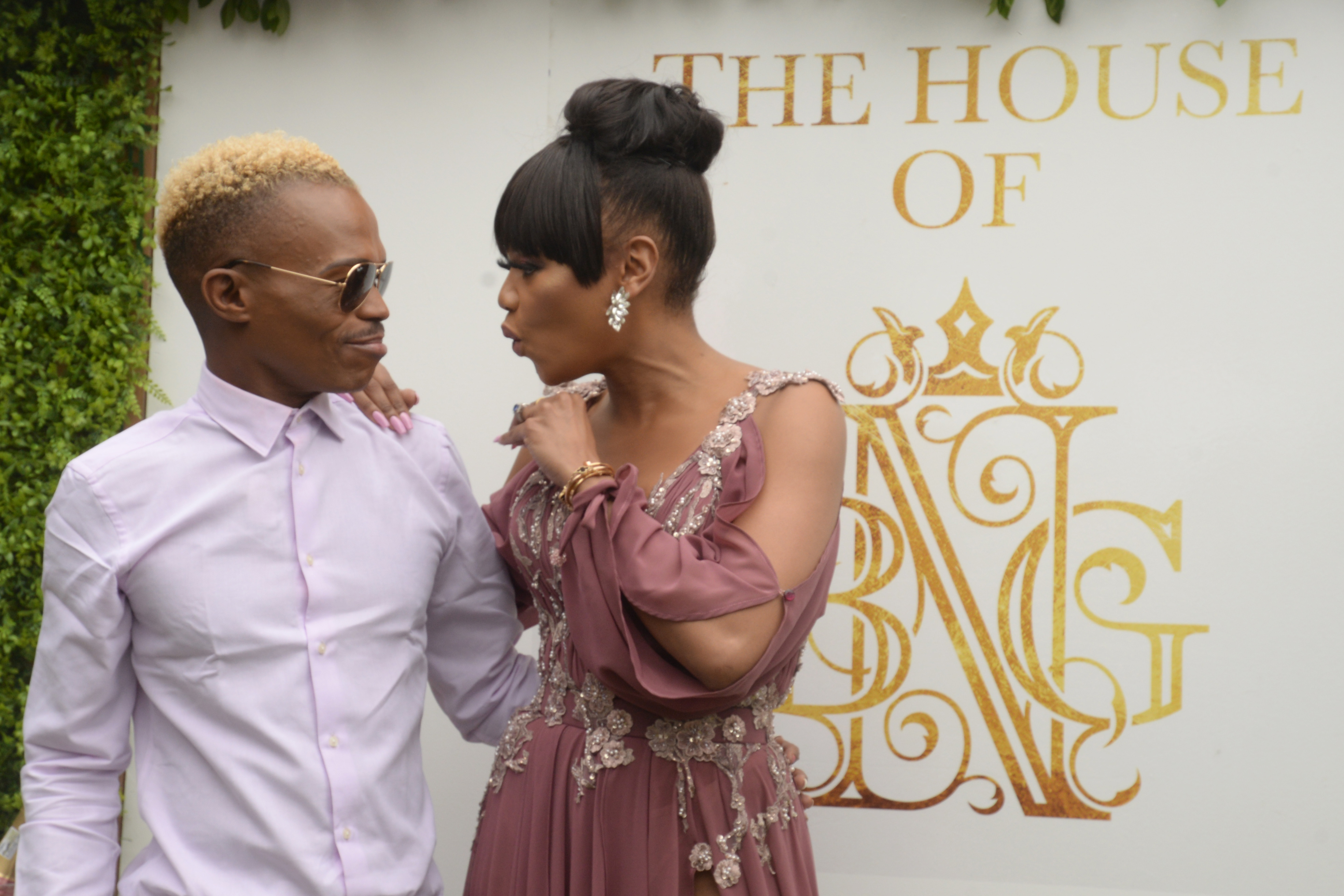 Somizi Mhlongo and Bonag Matheba during the House of BNG BY BONANG launch at the Riboville Boutique Hotel, Waterfall Estate on March 18, 2019 in Johannesburg.