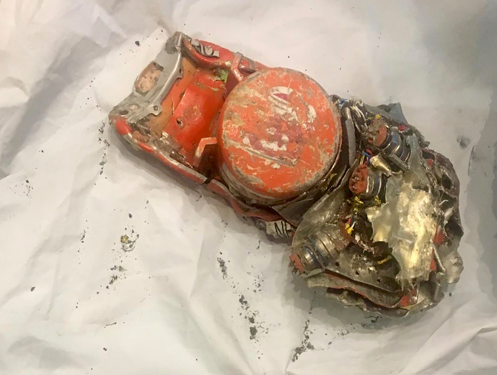 One of the two black box recorders of the Ethiopian Airlines 737 MAX which crashed minutes after taking off from Addis Ababa airport.