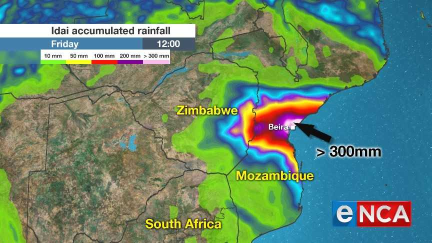 Red alert for Mozambique as Cyclone Idai gathers energy   eNCA