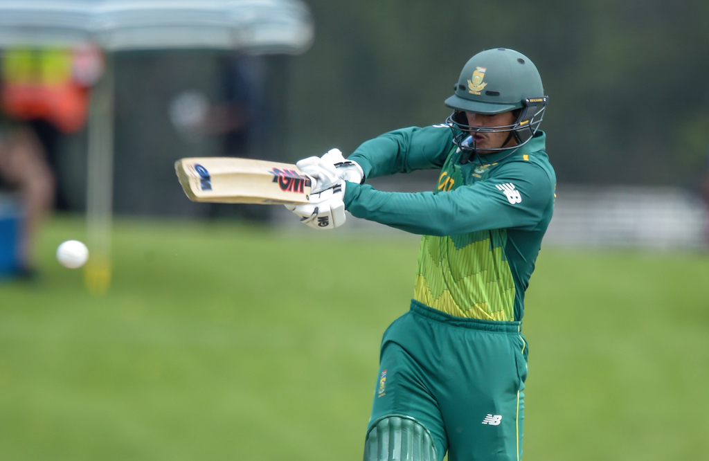 File: Quinton de Kock was South Africa's leading run-scorer in five out of seven series and was the team's top scorer in nine out of 27 innings.