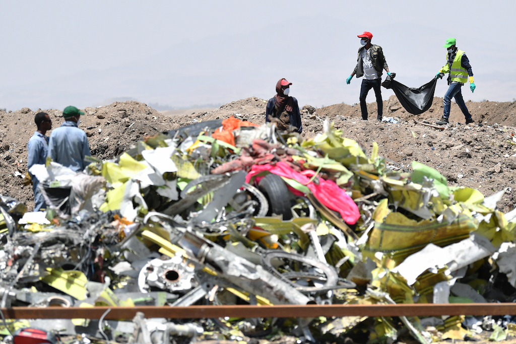 File: The MAX was grounded globally after the Ethiopian Airlines crash in March.
