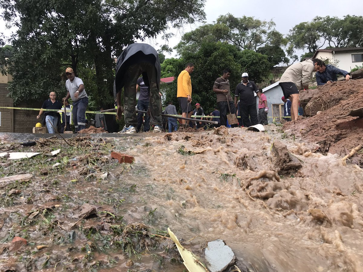 Durban floods have accounted for over 20 lives.