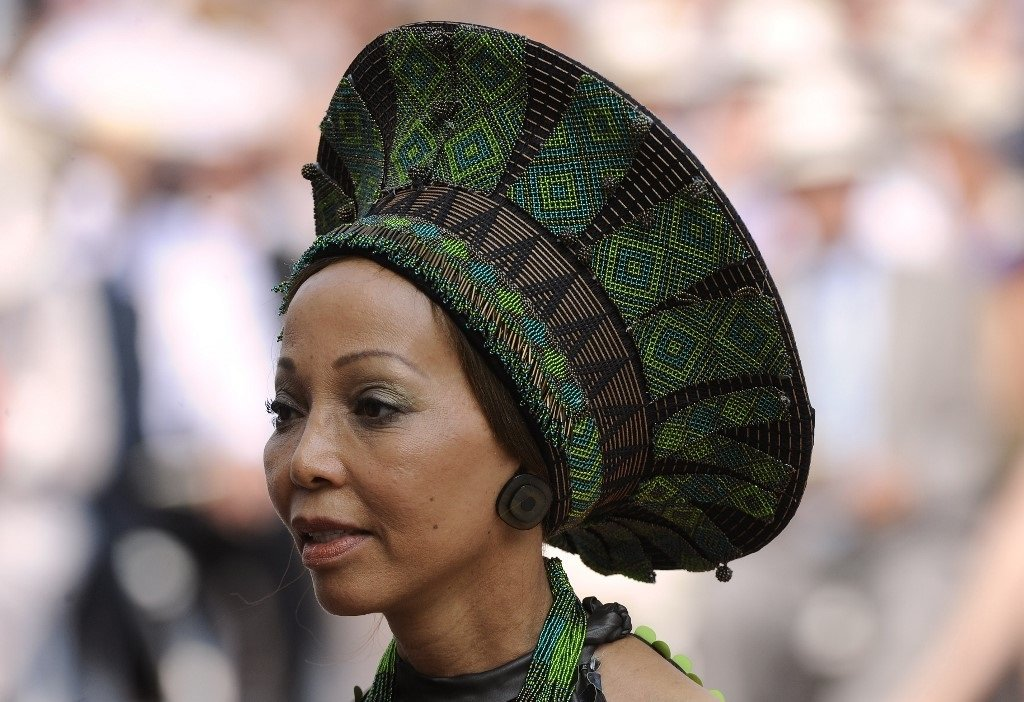 Bridgette Radebe, the wife of South African Minister of Justice Jeffrey Radebe, arrives for the religious wedding of Prince Albert II of Monaco and Princess Charlene of Monaco at the Prince's Palace.