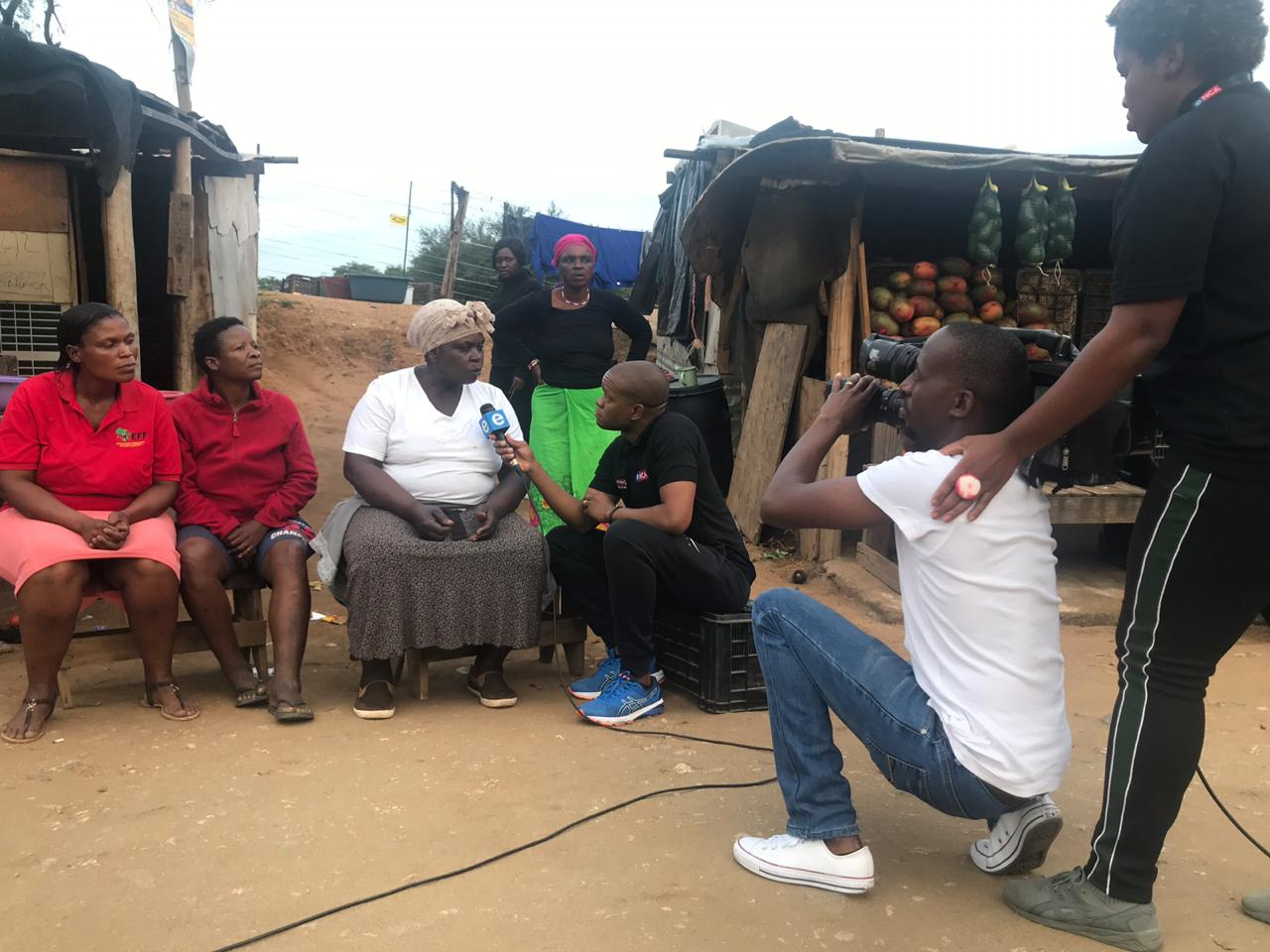 10 April 2019 - The team interviewing residents in Giyani.