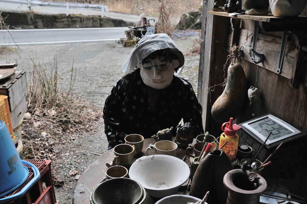 A life-size doll displayed at a house in the tiny village of Nagoro in western Japan.