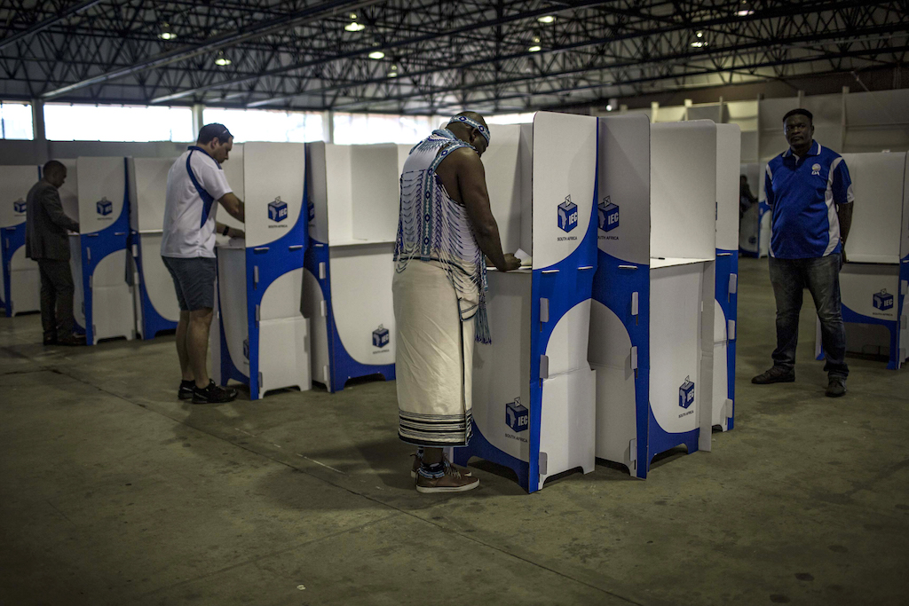 File: Under the system – designed to ensure inclusivity in the run up to the first democratic elections in 1994 – voters vote for party lists selected by the parties.