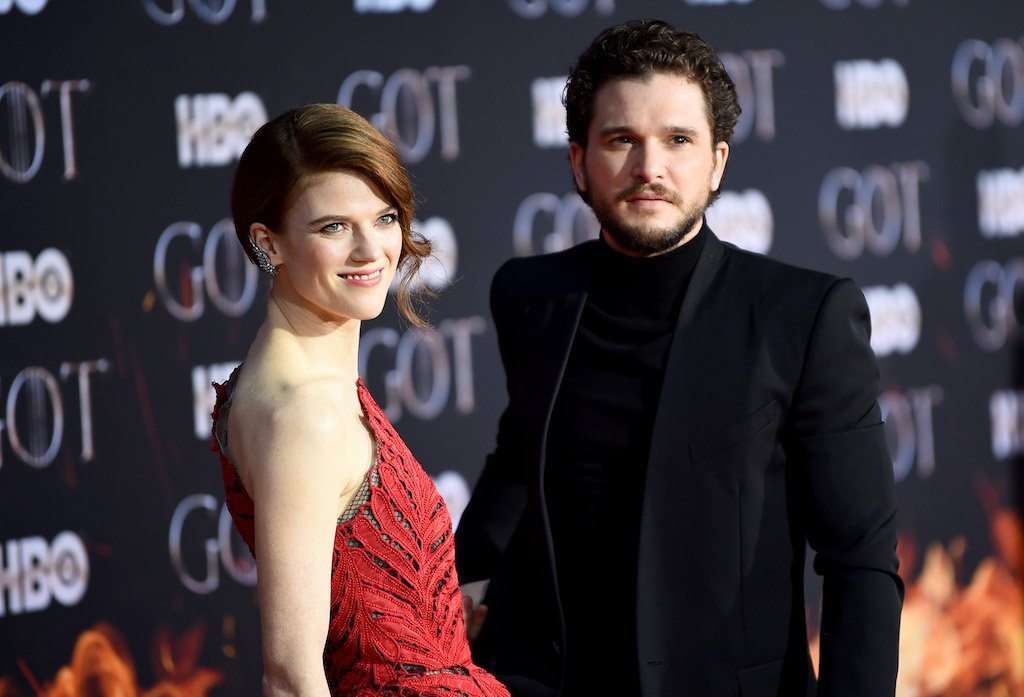 "Rose Leslie and Kit Harington attend the ""Game Of Thrones"" Season 8 Premiere."