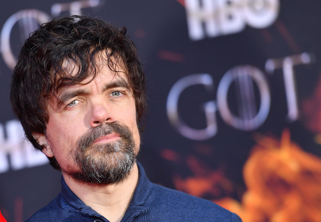 "US actor Peter Dinklage arrives for the ""Game of Thrones"" eighth and final season premiere."