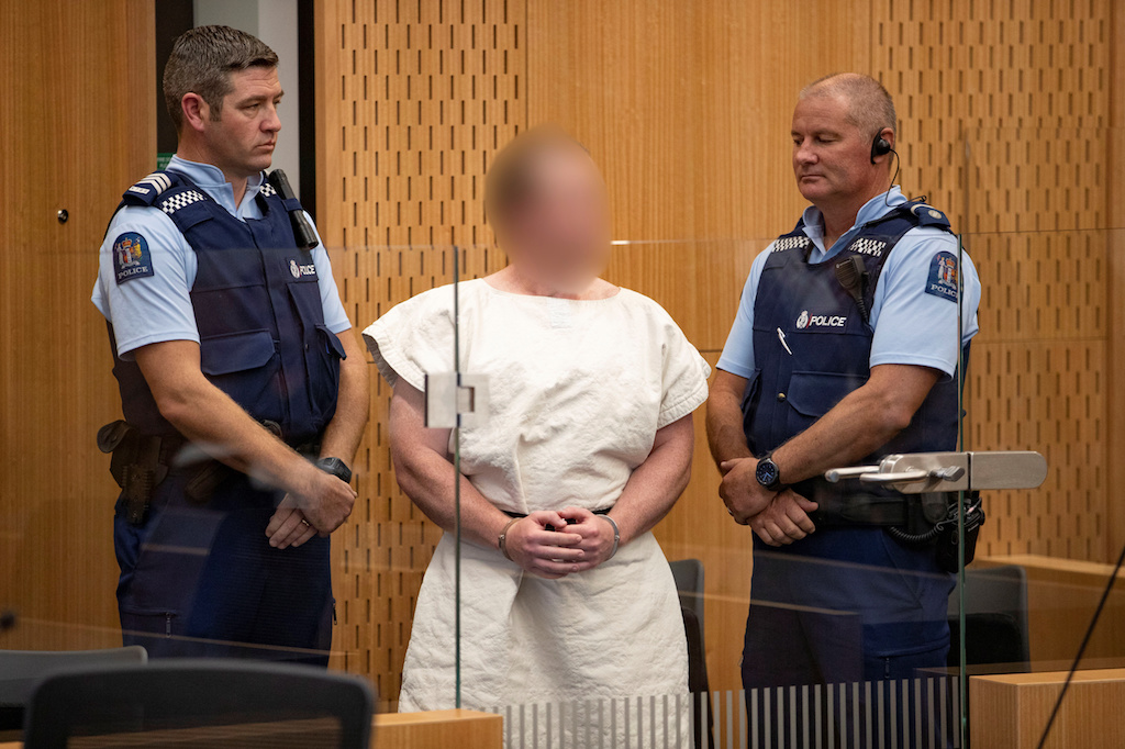 File: In addition to the terror charge, Brenton Tarrant also faces 51 charges of murder and 40 of attempted murder over the March 15 attacks.