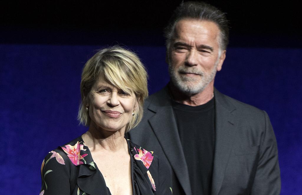 Terminator: Schwarzenegger and Hamilton reunite at CinemaCon