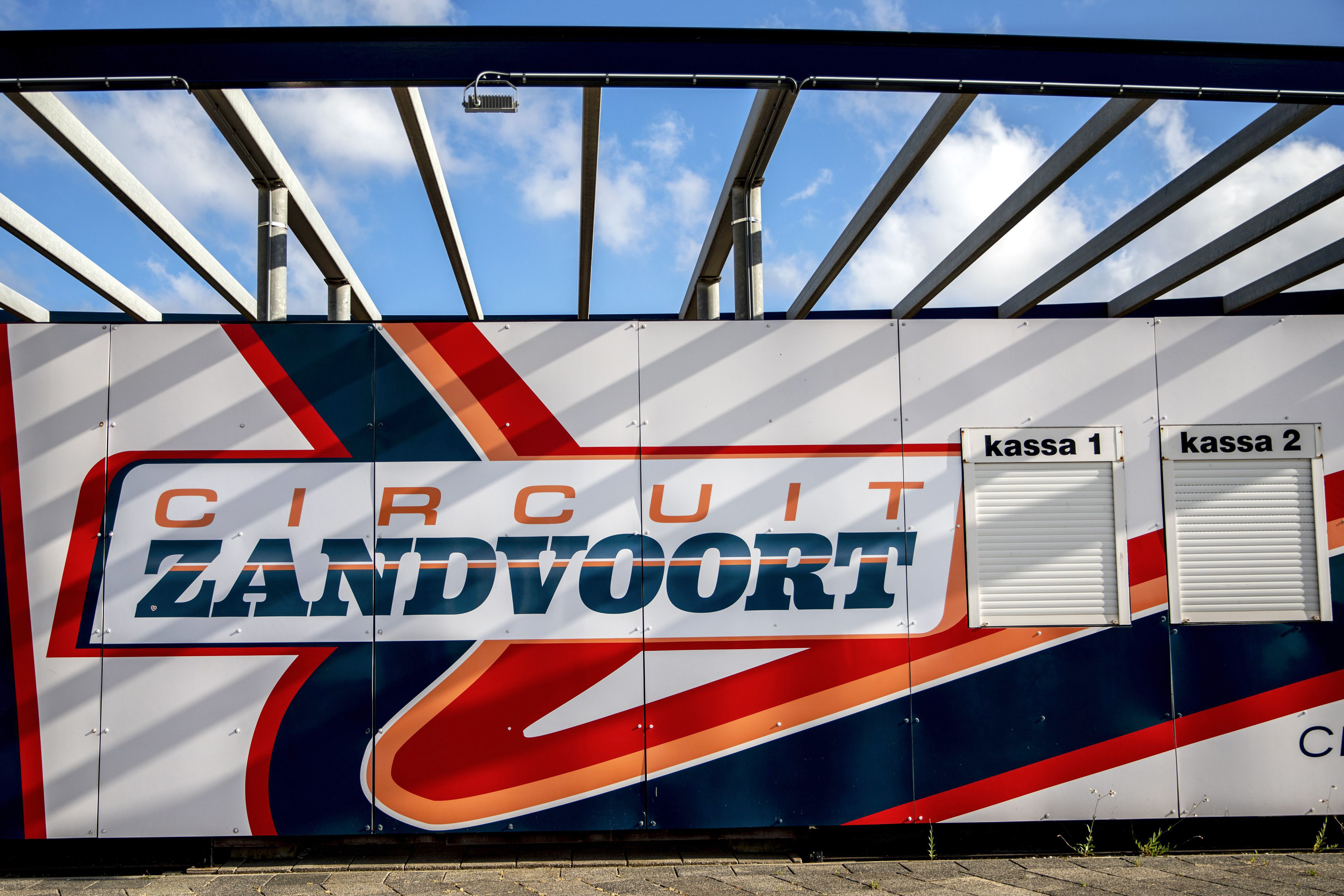 An illustration picture taken on May 14, 2019 in Zandvoort shows the logo of the Circuit Zandvoort as a press conference will take place today at the circuit to provide more information about the Formula 1 Dutch Grand Prix.