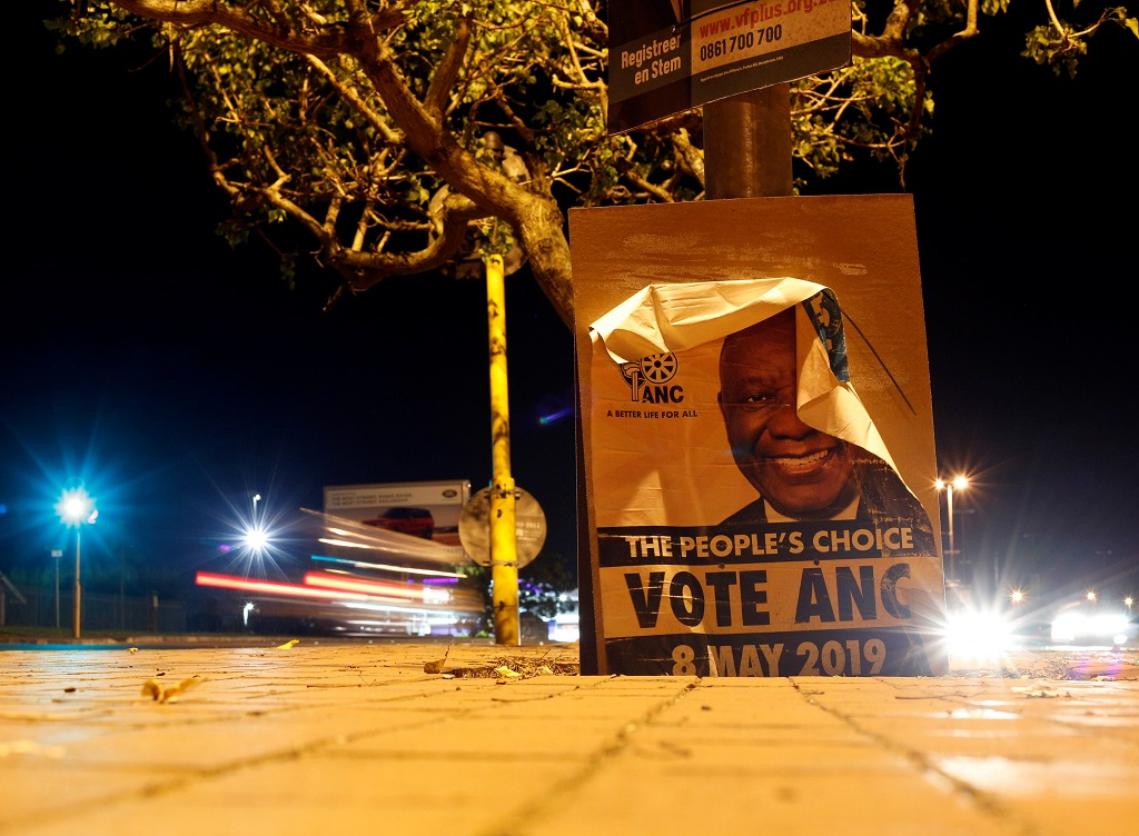 ANC election posters fade after the 2019 polls