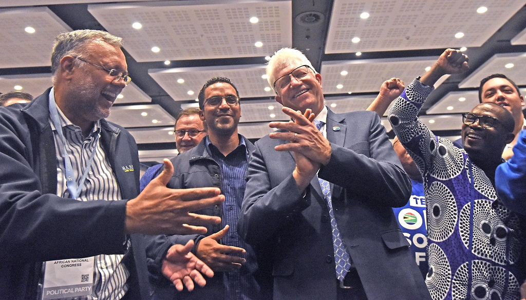 DA celebrates after winning the Western Cape in 2019 election
